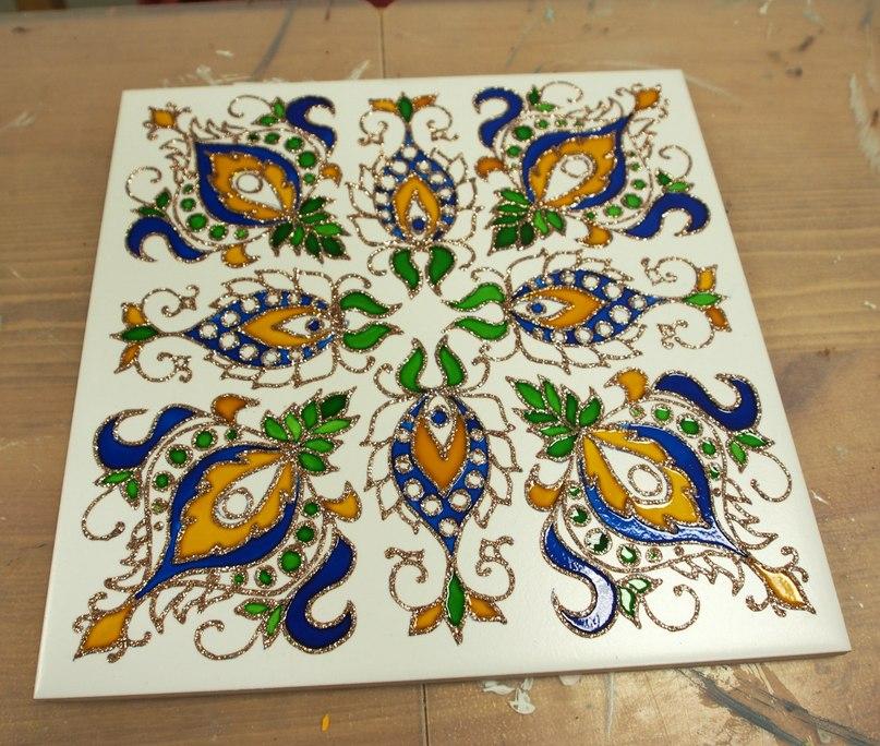 Роспись по керамической плитке своими руками мастер класс 91